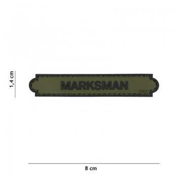 PARCHE PVC INSIGNIA MARKSMAN VERDE
