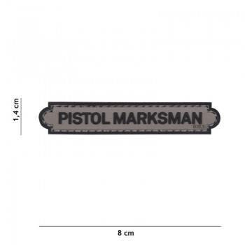 PARCHE PVC INSIGNIA PISTOL MARKSMAN GRIS