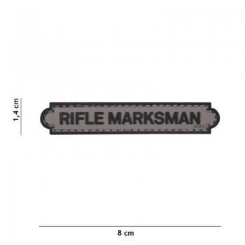 PARCHE PVC INSIGNIA RIFLE MARKSMAN GRIS
