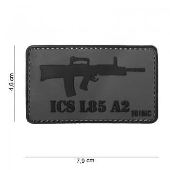 PARCHE PVC ICS L85 A2 GRIS