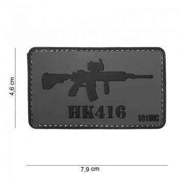 PARCHE PVC HK416 GRIS/NEGRO
