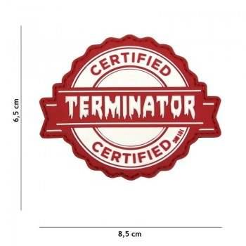 PARCHE PVC CERTIFICADO TERMINATOR BLANCO