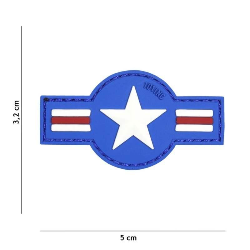 PARCHE PVC US AIR FORCE AZUL