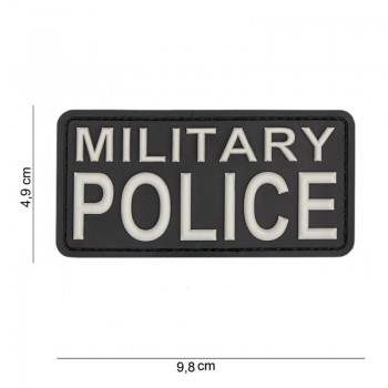 PARCHE PVC MILITARY POLICE NEGRO