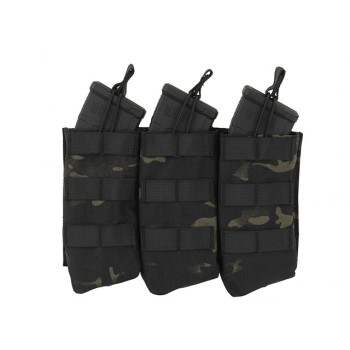 PORTA CARGADOR OPEN TOP DOBLE AK 8FIELDS MULTICAM BLACK