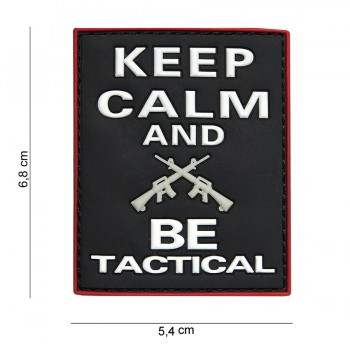 PARCHE PVC KEEP CALM AND BE TACTICAL NEGRO