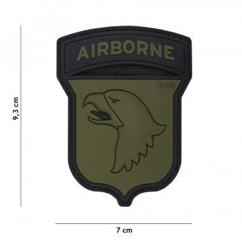 PARCHE PVC AIRBORNE 101ST VERDE/NEGRO