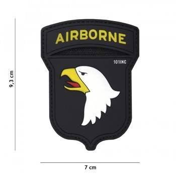PARCHE PVC AIRBORNE NEGRO