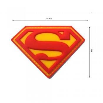 PARCHE PVC SUPERMAN ROJO/AMARILLO
