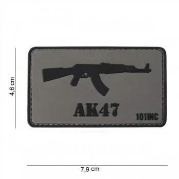PARCHE PVC AK47  GRIS/NEGRO