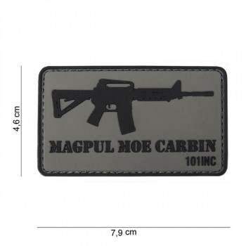 PARCHE PVC M4 MAGPUL MOE CARBIN GRIS/NEGRO