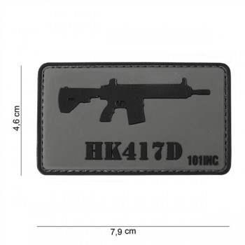 PARCHE PVC HK417D GRIS/NEGRO