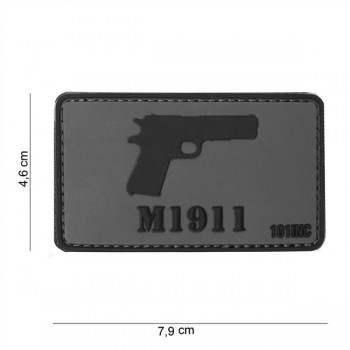 PARCHE PVC M1911 GRIS/NEGRO