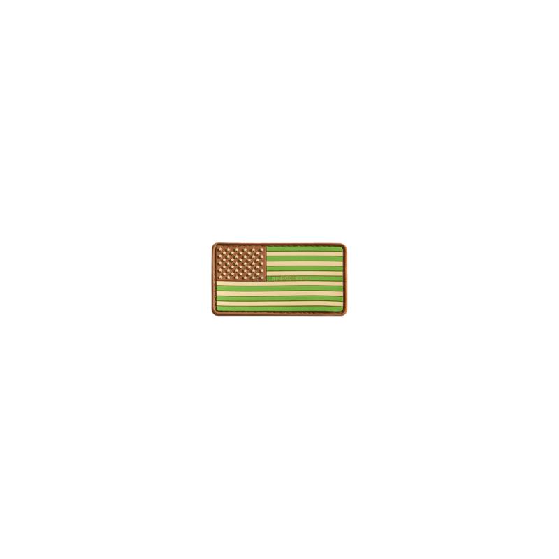 PARCHE PVC BANDERA EEUU IZQ. VERDE/MARRON