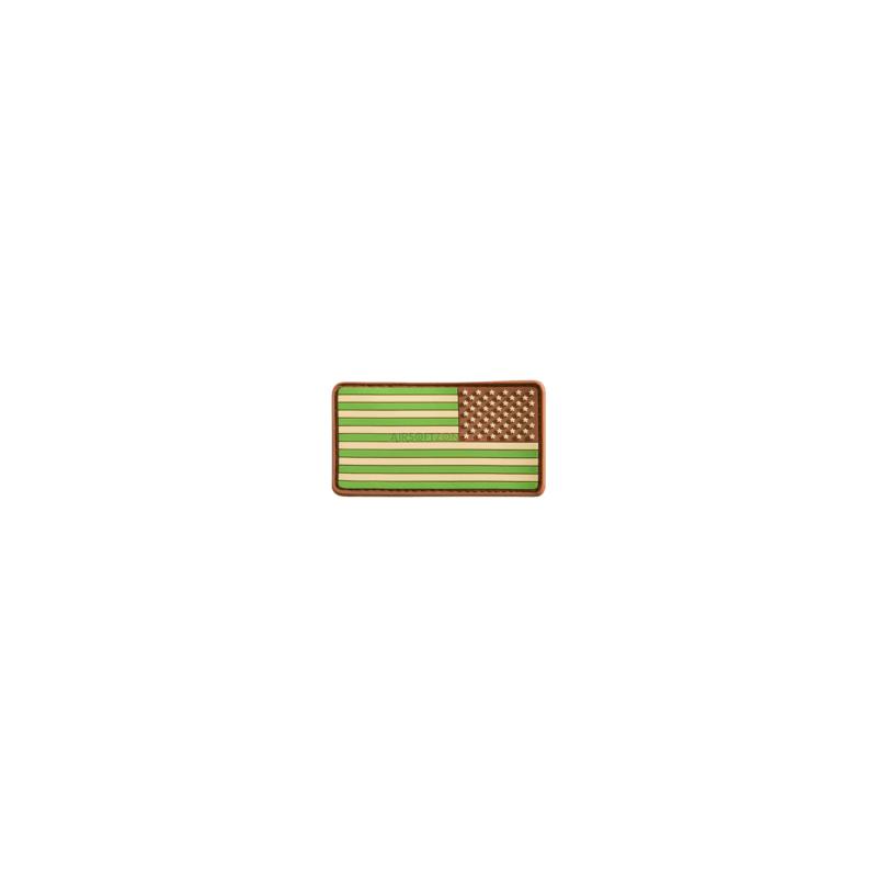 PARCHE PVC BANDERA EEUU DER. VERDE/MARRON