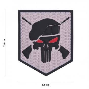 PARCHE PVC COMMANDO PUNISHER GRIS