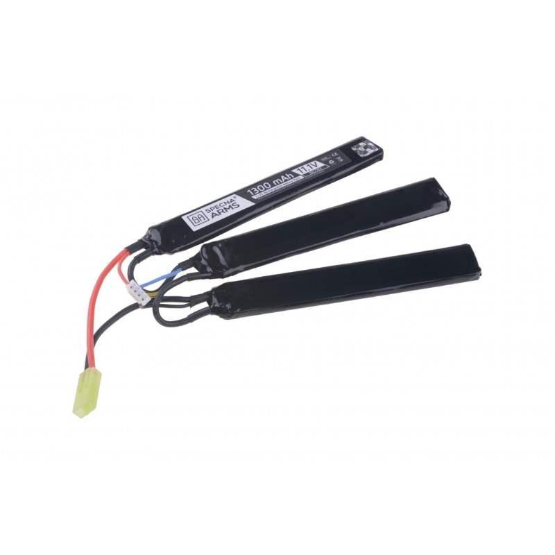 BATERIA LIPO 11.1V 1300mAh 15/30C TRIPLE SPECNA ARMS NEGRO